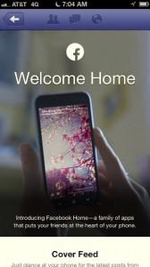 Facebook Home iOS Ad -- Screen 1