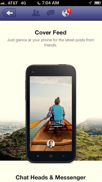 Facebook Home iOS Ad -- Screen 2