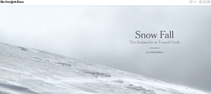 New York Times-Snow Fall: The Avalanche at Tunnel Creek