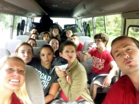 Broadreach Fiji Shark Studies 2014 -- Bus ride from the airport on Day 1