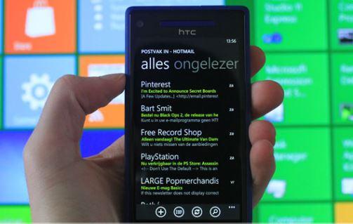 E-mail on a Windows Phone