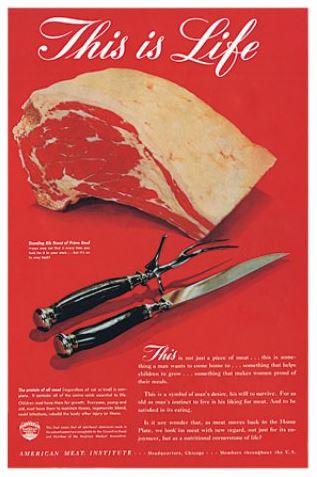 Leo Burnett 1940s Meat Campaign