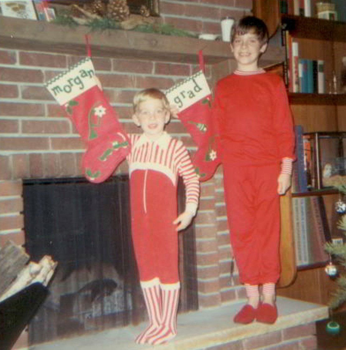 Morgan and Grad Xmas 1975