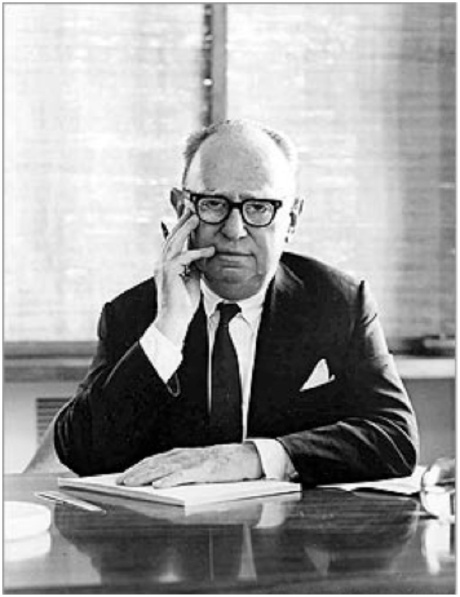 Mr Leo Burnett in his office