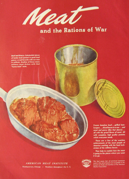 American Meat Institute Meat and the Rations of War