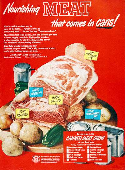 American Meat Institute Nourishing Meat That Comes in Cans