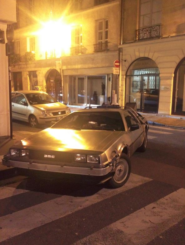 DeLorean Paris Time Machine August 2014