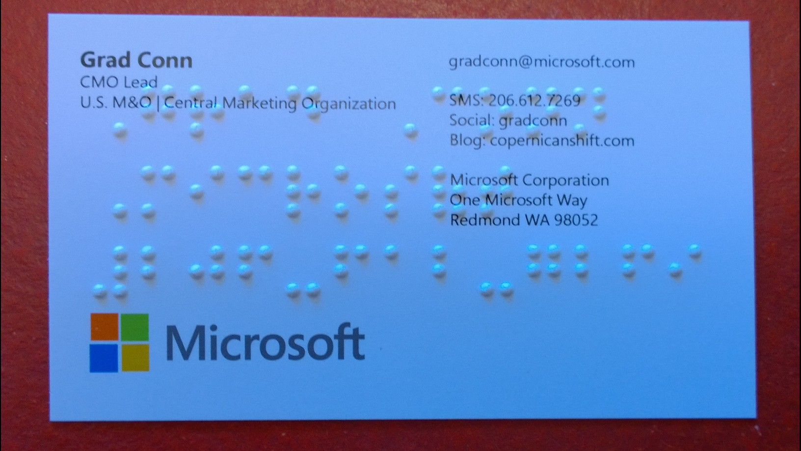 My Braille Business Cards, my Grandfather Dziadzi, and Microsoft ...