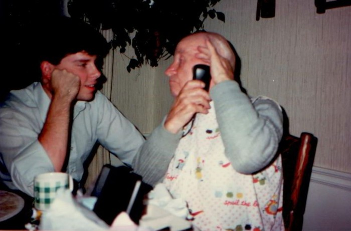 Grad and Dziadzi Shaving 1984