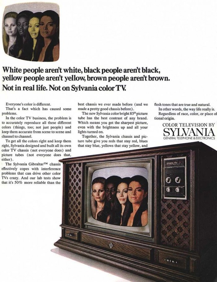 Sylvania 1972 Color TV Ad -- People Aren't