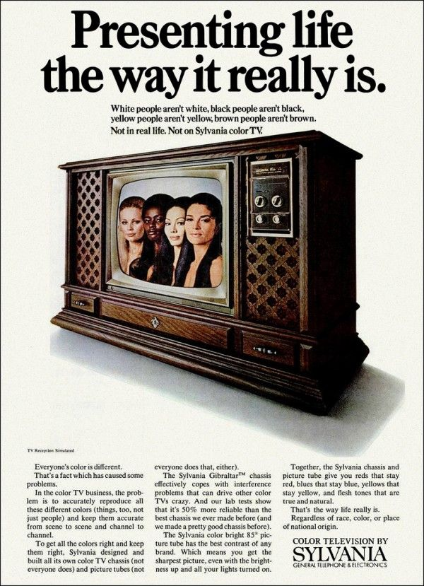 Sylvania 1972 Color TV Ad -- Presenting life the way it really is.