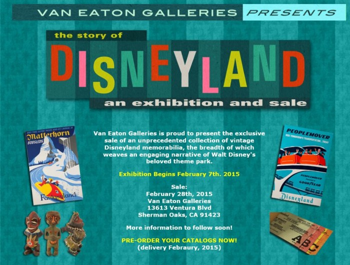 The Story of Disneyland -- an Exhibition and Sale