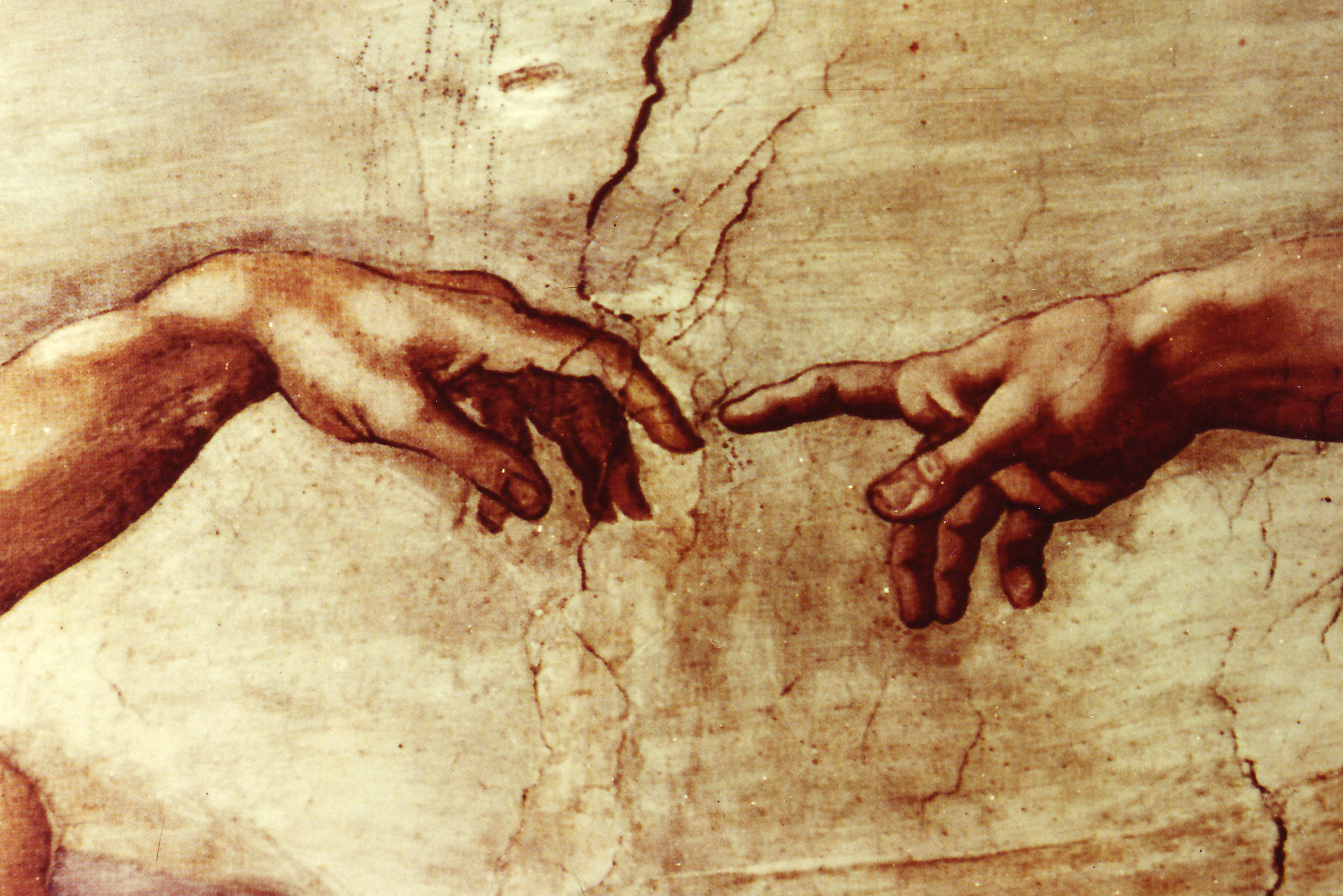 The Creation of Man by Michelangelo Sistine Chapel