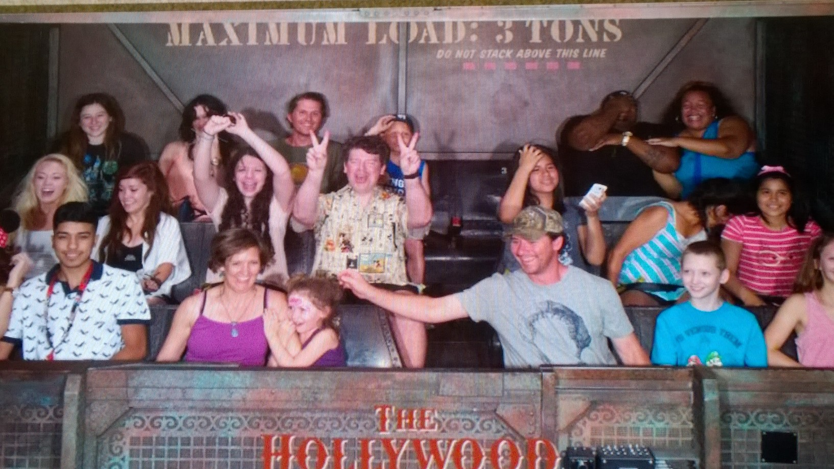 Trinity and Grad on The Twilight Zone Tower of Terror