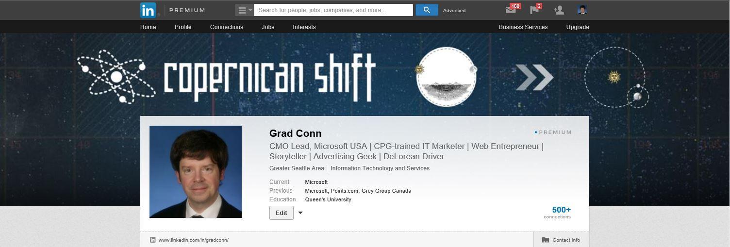gradconn LinkedIn Profile Header