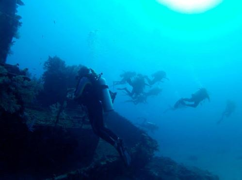 Broadreach Fiji Wreck Diving Silhouettes