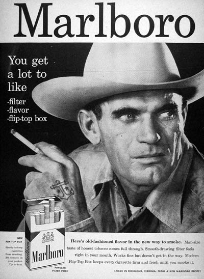 Marlboro Man Black and White