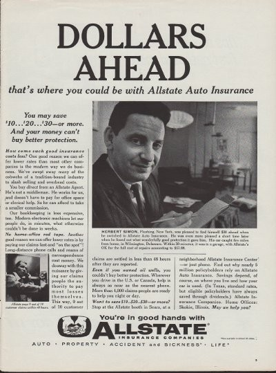 Allstate Magazine Advertisement 1960