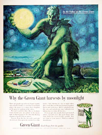Green Giant Harvested by Moonlight Magazine Advertisement