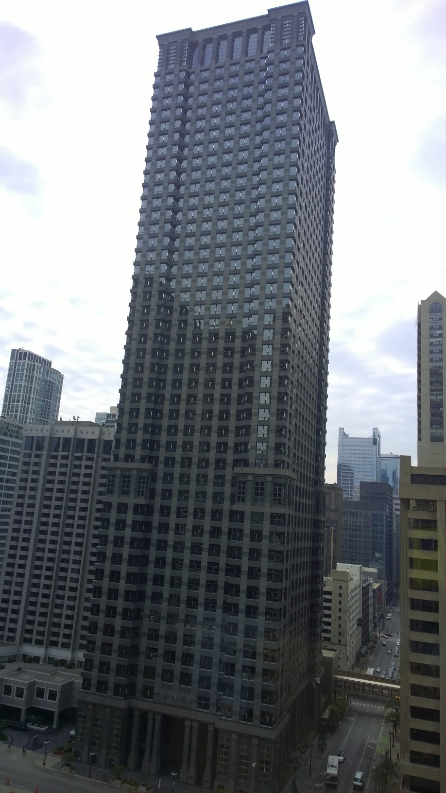 The Leo Burnett Building and Leo Burnett Worldwide Headquarters at 35 West Wacker Drive at North Dearborn Street in the Chicago Loop