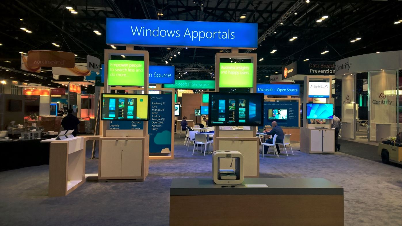 Our awesome Windows Apportals Booth at WPC2015 in Orlando, FL