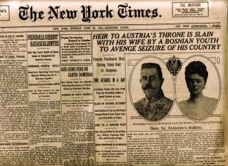 NYT Front Page June 29 1914